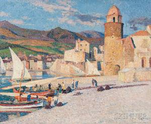 HenriJean Guillaume Martin French 18601943 La Tour de Collioure