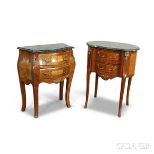 Two Louis XVstyle Ormolumounted Marbletop Commodes