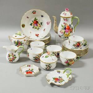 Twentytwo Pieces of Herend Porcelain Tableware