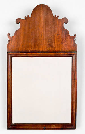 Queen Anne mahogany looking glass ca 1780