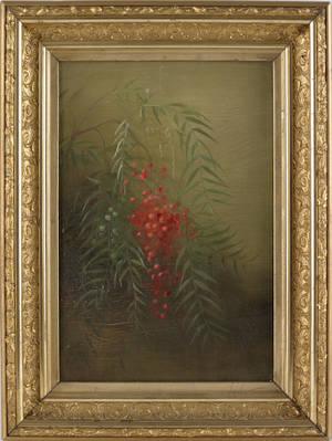 Oil on canvas still life 19th c