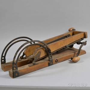 Maple and Iron Handcrank Drill Press