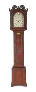 Pennsylvania painted pine tall case clock ca 1790