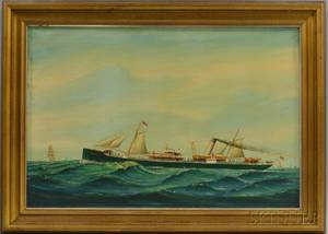 American School 19th Century Ship Portrait of the Montebello