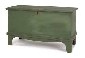 New England painted pine blanket chest ca 1800