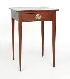Pennsylvania Hepplewhite cherry side table ca 1810