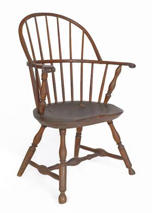 Lancaster County Pennsylvania bowback Windsor armchair ca 1780