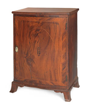 Chester County Federal mahogany veneer valuables chest ca 1805