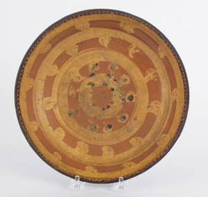 Redware shallow bowl 19th c