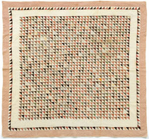 Pennsylvania pieced flying geese variant pattern quilt ca 1900