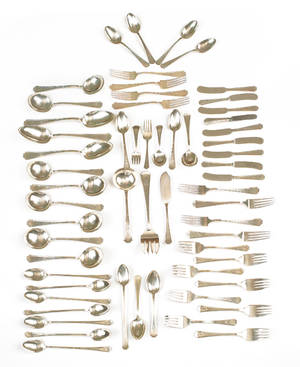 Group of Gorham and Durgin sterling silver flatware
