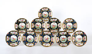 Set of twelve bird plates by Boothe