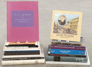 Reference books on American art and assorted antique topics