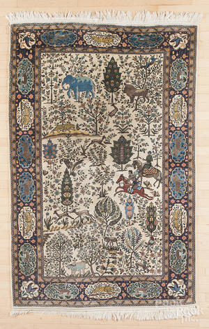 Semiantique garden rug