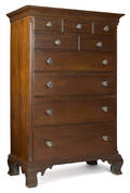 Lancaster County Pennsylvania Chippendale walnut tall chest ca 1775
