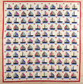 Pennsylvania sailboat quilt 20th c
