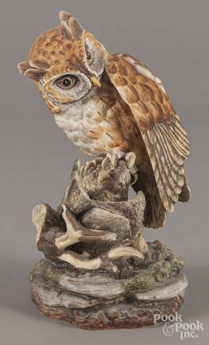 Boehm porcelain limited edition screech owl