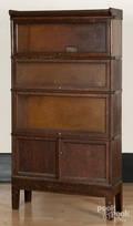 GlobeWernicke Co oak stacking bookcase