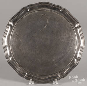 English Atkin Brothers sterling silver circular platter