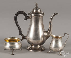 Lunt sterling silver teapot