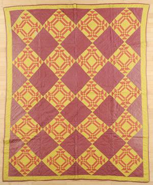 Pennsylvania pieced block variant quilt ca 1880