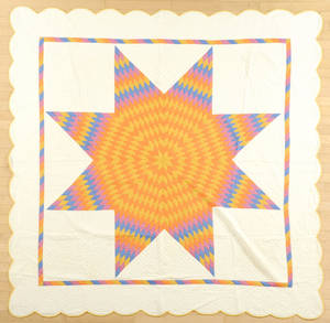 Pennsylvania lone star quilt early 20th c