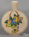 Ceramique de Bruxelles crackle glaze vase
