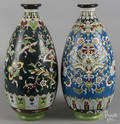 Pair of large art pottery vases