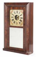 EC Brewster  Co Empire mahogany mantel clock