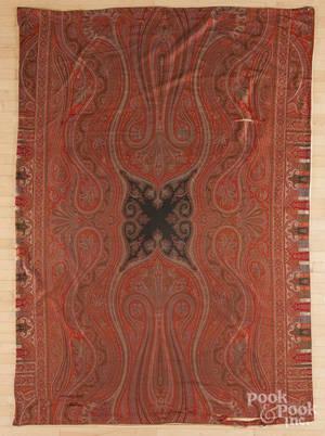 Three Kashmir paisley shawls