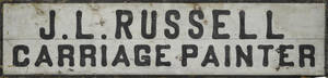 Painted pine trade sign ca 1900