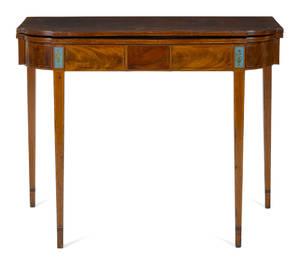 Baltimore Hepplewhite mahogany card table ca 1800