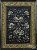 Two Chinese silk embroideries