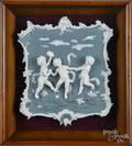 Framed jasperware plaque