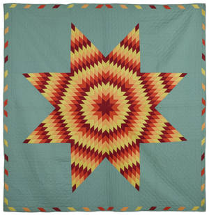 Pieced Bethlehem star quilt late 19th c