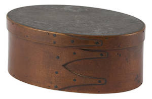 Shaker stained bentwood box 19th c