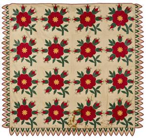 Pennsylvania floral appliqu quilt ca 1840