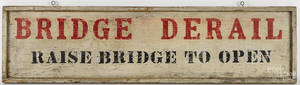 Painted pine trade sign