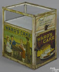 tin lithograph and glass counter top store display case ca 1920