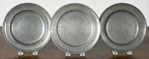 Two Philadelphia pewter plates late 18th c