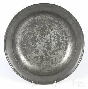 English pewter deep dish by Townsend and Compton