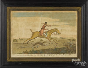Color engraving of the Cambridge Jockey