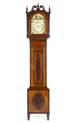 Pittsburgh Pennsylvania area tall case clock ca 1825