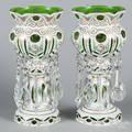 Pair of Bohemian glass lustres