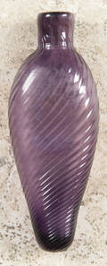 Amethyst glass swirl scent bottle 19th c