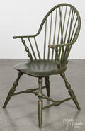 Bench made braceback Windsor chair