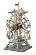 German Doll et Cie painted tin Ferris wheel steam toy accessory