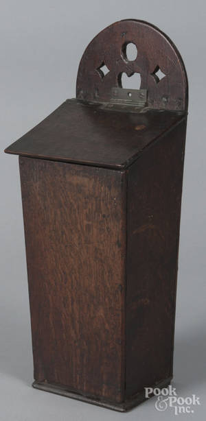 English oak hanging box