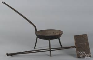 Wrought iron skillet