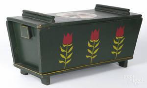Pennsylvania painted pine and poplar dough box